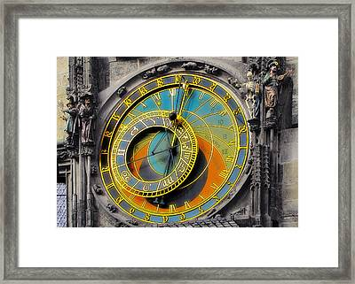 Orloj - Astronomical Clock - Prague Framed Print by Christine Till
