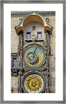 Orloj - Prague Astronomical Clock Framed Print by Christine Till