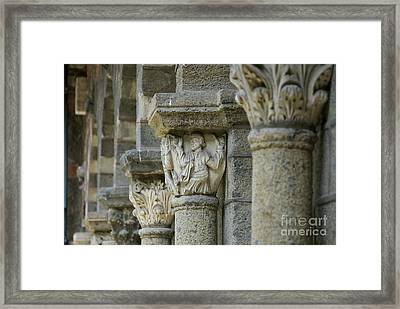 Ornament Of Cloister Of Puy En Velay. Haute Loire. Auvergne Framed Print