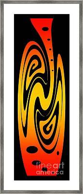 Ornamental Vase - Fire Framed Print by Kaye Menner