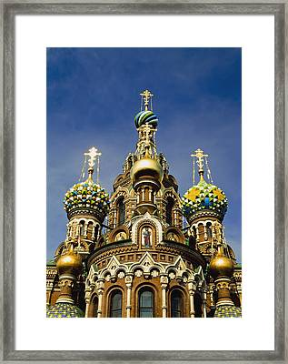 Ornate Exterior Of Church Of Spilled Framed Print by Axiom Photographic