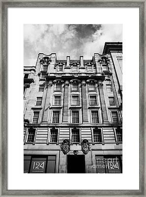 Ornate Facade Of 124 St Vincent Street Refurbished Into Modern Office Space Glasgow Scotland Uk Framed Print by Joe Fox