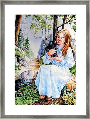 Orphaned Fox Pup Framed Print