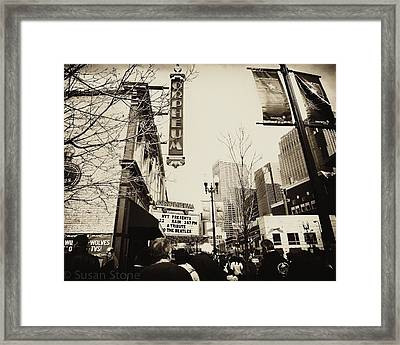 Orpheum Theatre Framed Print by Susan Stone