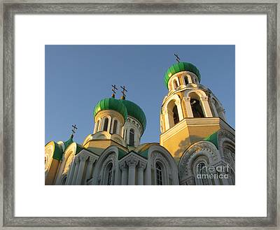 Orthodox Church Of Sts Michael And Constantine- Vilnius Lithuania Framed Print