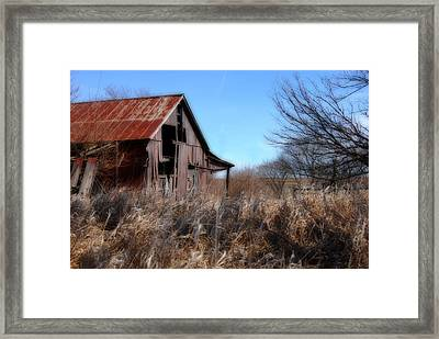 Framed Print featuring the photograph Orton Barn by Kimberleigh Ladd
