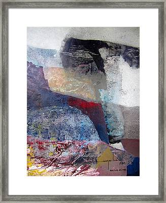 Os1959ar018ba Abstract Landscape Of Potosi Bolivia 16.6 X 22 Framed Print by Alfredo Da Silva
