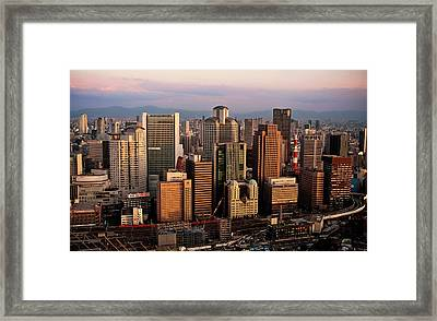 Osaka City Downtown Umeda Framed Print by Paul Hillier Photography (www.paulhillier.com)