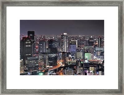 Osaka Nightscape Framed Print