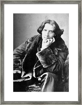 Oscar Wilde 1864-1900, Photograph Framed Print by Everett