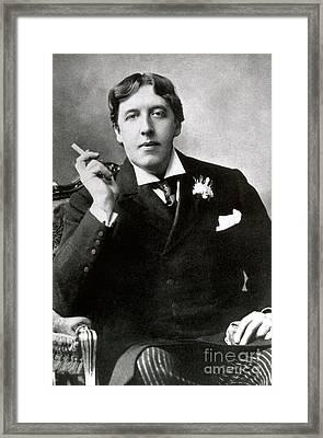 Oscar Wilde, Irish Author Framed Print by Photo Researchers