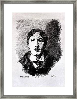 Oscar Wilde Framed Print by John  Nolan