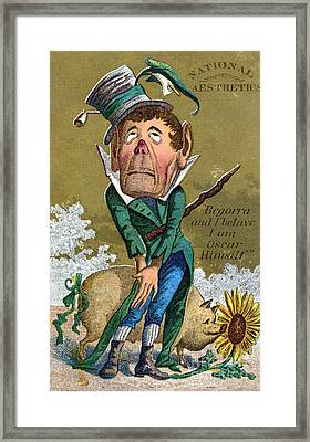 Oscar Wilde Trade Card Framed Print by Granger
