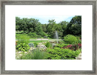 Oshawa Botanical Garden 3 Framed Print by Sharon Steinhaus