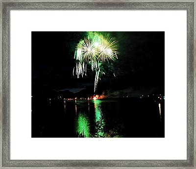 Osoyoos Lake Lights Up Framed Print by Don Mann
