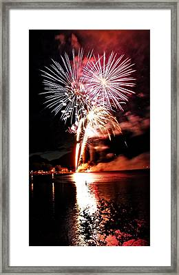 Osoyoos Lake On Fire Framed Print by Don Mann