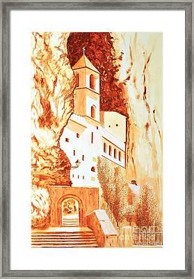 Ostrog Abbey. Montenegro. Framed Print by Sasa Djerkovic