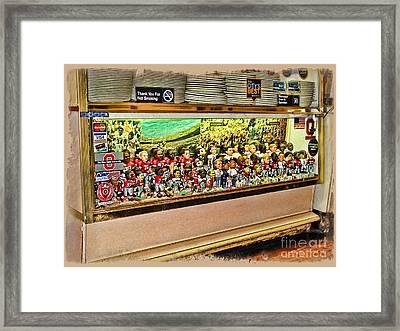 Osu Town Framed Print by Joan  Minchak