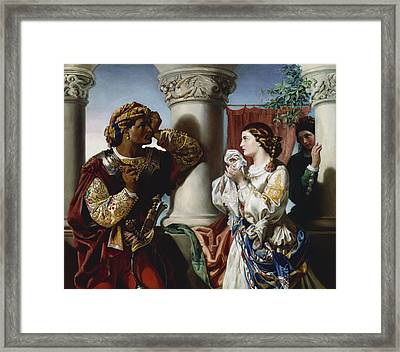 Othello And Desdemona Framed Print by Daniel Maclise