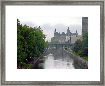 Ottawa Rideau Canal Framed Print by Valentino Visentini