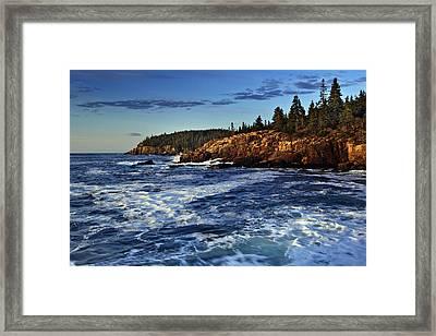 Otter Cliffs Framed Print