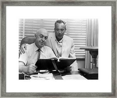 Otto Preminger, Director & Leon Uris Framed Print by Everett