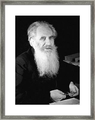 Otto Schmidt, Soviet Geophysicist Framed Print by Ria Novosti