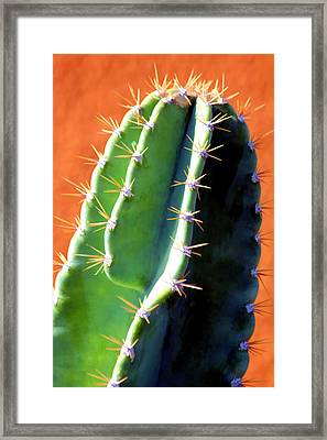 Framed Print featuring the digital art Ouch by Brian Davis