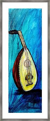 Framed Print featuring the painting Oud  by Amanda Dinan