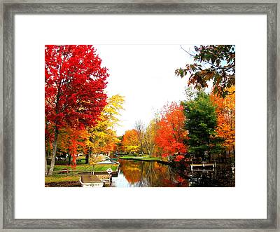 Our Canal Framed Print