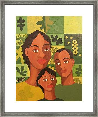 Our Family Framed Print by Maggie Ruth