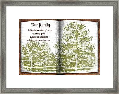 Our Family Roots Framed Print by Michelle Frizzell-Thompson