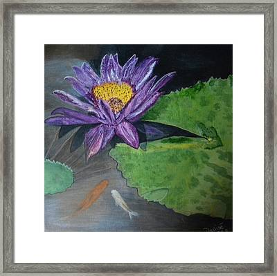Our Home Under The Lily Pads Framed Print