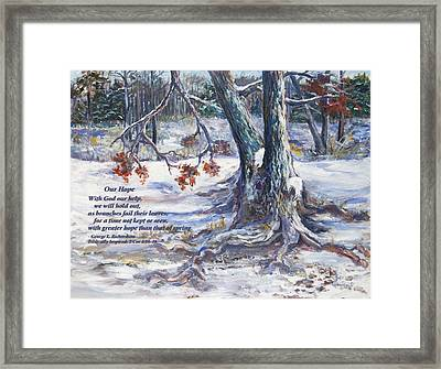 Our Hope With Poem Framed Print