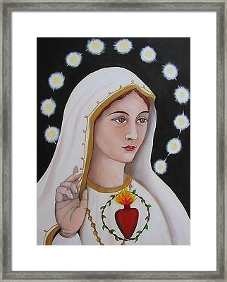 Our Lady Of Fatima Framed Print by Christina Miller