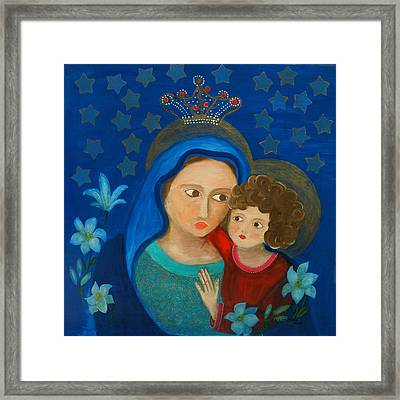 Our Lady Of Good Counsel Framed Print by Maria Matheus Maria Santeira