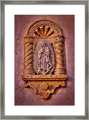 Our Lady Of Guadalupe At The Chapel In Tlaquepaque  Framed Print by David Patterson