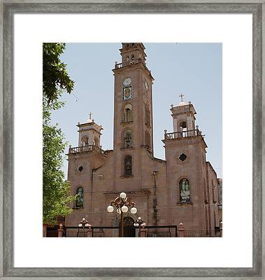 Our Lady Of Guadalupe Piedras Negras Mexico Framed Print