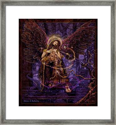 Framed Print featuring the painting Our Lady Of Redemption by Steve Roberts
