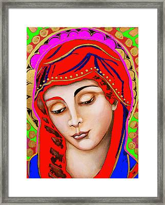 Our Lady Of Sorrows Framed Print by Christina Miller