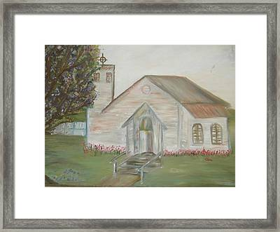 Our Lady Queen Of Angels Church  Framed Print