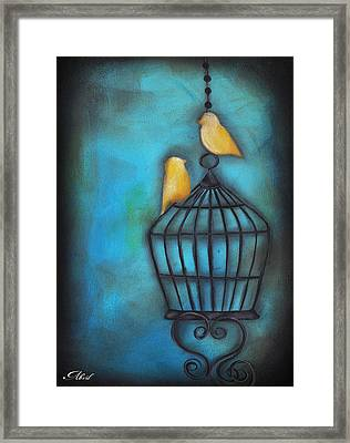 Our Love Is Free Framed Print by  Abril Andrade Griffith