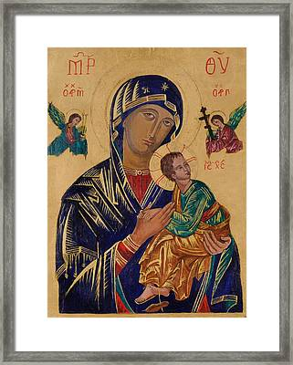 Our Mother Of Perpetual Help Framed Print by Camelia Apostol