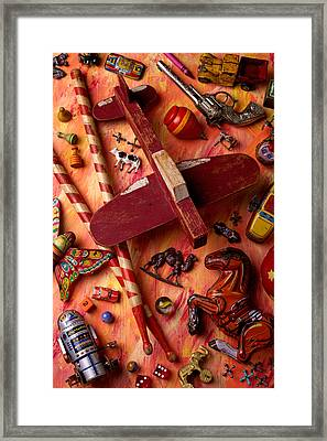 Our Old Toys Framed Print by Garry Gay