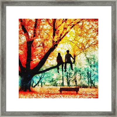 Our Spot Framed Print by Mo T