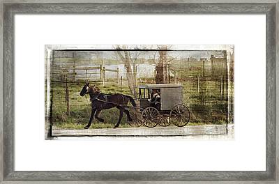Out For A Ride Framed Print by Kathy Jennings