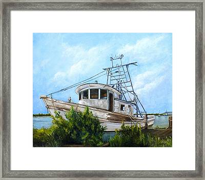 Out Of Commission  Framed Print by Elaine Hodges