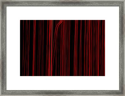 Out Of Line Framed Print by Dean Bennett