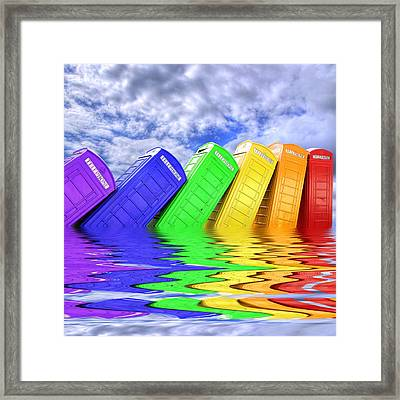 Out Of Order - A Rainbow - Kingston - Surrey Framed Print by Colin J Williams Photography