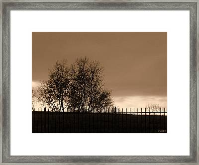 Out Of Reach Framed Print by Ed Smith